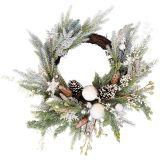 Elegant Wreath Snow 56cm