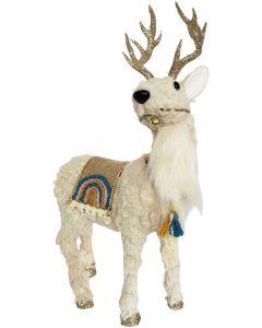Rainbow Reindeer Standing Decoration Blu