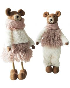 Woodland Teddy Standing Decoration Bisqu