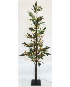 Native with Berry Christmas Tree Green L
