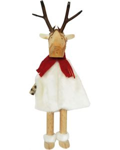 Woodland Reindeer in Dress Decoration Wh