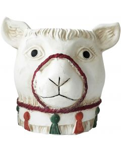 Sale Llama Tall Planter White 19cm
