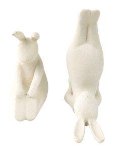 Yoga Bunnies Figurine Cream 14cm S/2