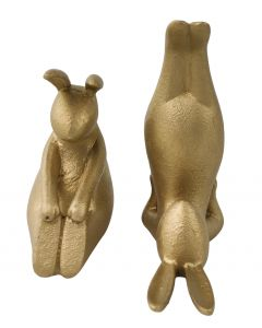 Yoga Bunnies Figurine Gold 14cm S/2