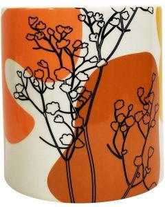 Willa Foliage Planter Peach  Orange Lg