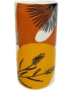 Willa Foliage Vase Peach  Orange 24cm