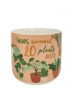 I Was Normal 20 Plants Ago Planter Green