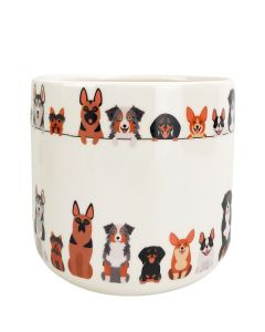 Quirky Dog Planter Multicoloured Med 14c