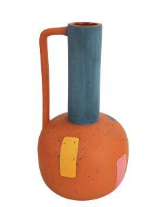Windsor Vase Terracotta & Dusty Blue Sm