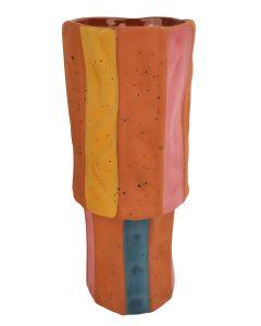 Windsor Vase Terracotta & Rose Med 22cm