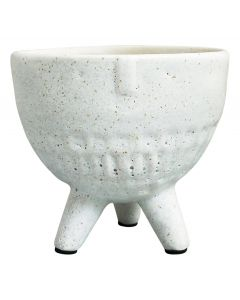 Sale Face Planter Round on Legs White Sm