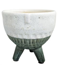 Sale Face Planter Round on Legs Green Sm
