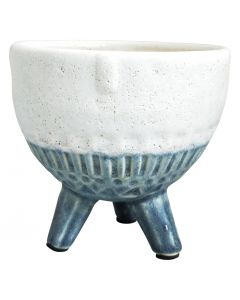 Sale Face Planter Round on Legs Blue Sm