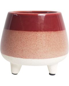 Sale Two Toned Planter with Legs Berry M