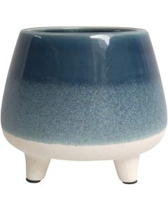 Sale Two Toned Planter with Legs Blue Me