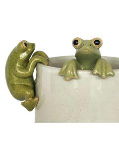Frog Pot Hanger Green 8cm (2 Asst)