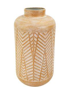 Jada Leaf Vase Orange & White Sm 30cm