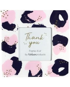 Sale Thank You Frame Pink  Blue 4x4