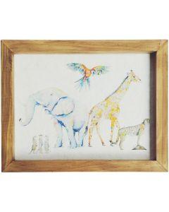 Sale SE Zoo Frame Block Watercolour 4x8