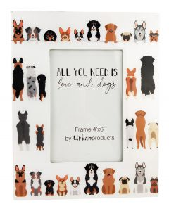 All You Need is Love & Dogs Frame Multic