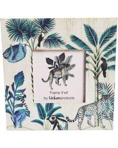 Sale Wild Jungle Wooden Frame Green 4x4
