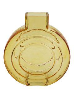 Tommy Round Glass Vase Amber Sm 16.5cm