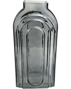 Tommy Tall Glass Vase Steel Lg 27cm