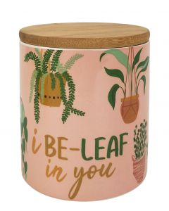 I Be-Leaf In You Cannister Green & Brown