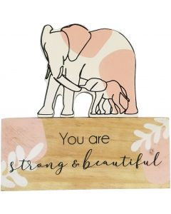 Strong and Beautiful Elephant Cutout Sig