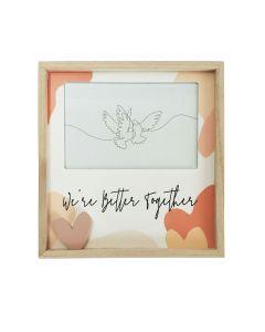 Better Together Heart Frame Peach 4x6
