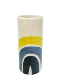 Skyla Rainbow Vase Blue  Yellow Sm 14cm