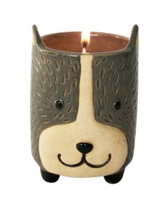 Dog Soy Candle Grey  Sand 9cm