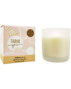 Thank You Boxed Soy Candle Pink  Green