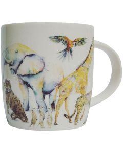 SE Zoo Pattern Mug Multicolour 9cm