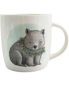 Sitting Wombat RT Mug Green 9cm