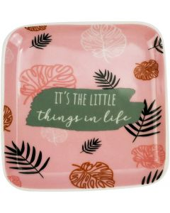 Its The Little Things Trinket Dish Pink