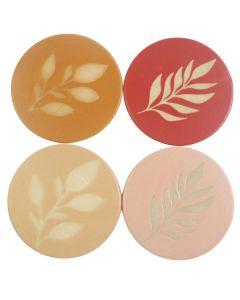Shae Foliage Coaster Pink, Beige, Mustar