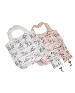 Zoo Animal Sketch Eco Bag Pink 65cm (2 A