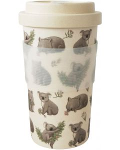 RT Koala  Wombat Eco Mug Grey  Pink 40