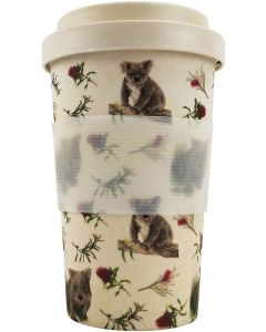BG Koala and Wombat Eco Mug Pink  Green