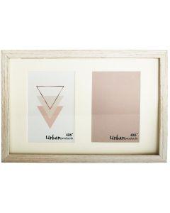 Sale White Wash Double Frame 22.5x30.5cm